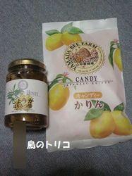 4 かりん飴としょうがの蜂蜜漬け.JPG